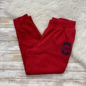 CHAMPION Men's Red Navy Sweatpants Pants Jogger